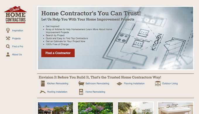 Trusted Home Contractor home page