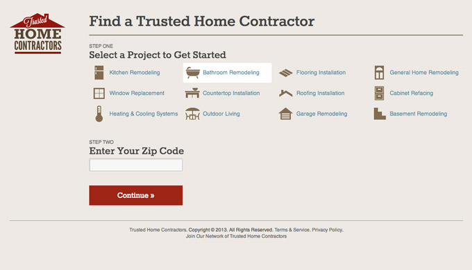 Form on Trusted Home Contractors