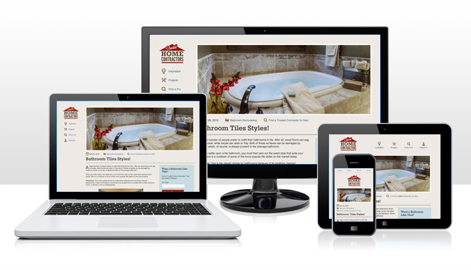 Responsive versions of Trusted Home Contractors